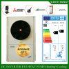 Slovaquie / Lativa -25c Chauffage au sol de l'étage d'hiver + 55c Pompe à chaleur à eau chaude 12kw / 19kw / 35kw avec chauffe-eau solaire Evi Cop 5
