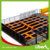 Fabricante profissional trampolim Interior design com guerreiros ninja de golfe