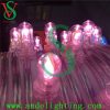 Выдвиженческие 12V розовые света шнура зажима СИД