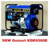 Tipo silencioso diesel refrigerado ventas calientes del generador 5kw