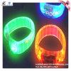 Wristband de piscamento do diodo emissor de luz do plástico da forma