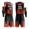 2019 Roupas com Novo Design de Roupas personalizadas a sublimação a aplicar o basquetebol Jersey uniforme para homens