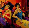 Peinture à l'huile impressionniste de femmes pour la décoration à la maison