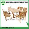 A madeira de carvalho mobiliário de jardim com 8 cadeiras (W-9S-0621)