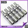 2014년 교차 New 및 Hot Sale E Cig Model Gax Tank Glass Vaporizer Gax Atomizer