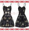 Roupa Sleeveless do vintage do vestido da forma das senhoras (CS-D209)