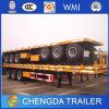 40FT Behälter-Sattelschlepper Tri-Welle 40FT Flachbett-halb Schlussteil