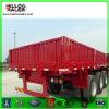 De Chinese 50t Semi Aanhangwagen van de Lading stortgoed van de Zijgevel van de tri-As