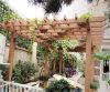 Plastic de madera Composite Pergola para el jardín, WPC Pergola