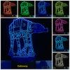Creatieve 3D LEIDENE USB van Star Wars Atat Robort Lichten als Slaapkamer die van het Huis de Giften van de Nieuwigheid voor de Vrienden van Kinderen verfraaien