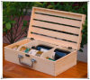 Holder를 가진 나무로 되는 Wine Box Wooden Wine Crate