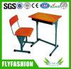 Mesa ajustável e cadeira de madeira do estudante da escola únicas ajustadas (SF-08S)