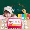 Jogo interativo da matemática de madeira do ímã do refrigerador das varas que aprende o brinquedo dos miúdos