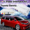 Surface adjacente visuelle androïde de navigation automatique pour Toyota Sienna Mirrorlink 2014-2017