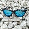 Kundenspezifischer polarisierte Sonnenbrillen UV400 der Marken-Katze-3 blauer Spiegel für Drucken-Firmenzeichen