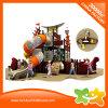 Diapositiva al aire libre de dos pisos del tubo del parque de atracciones de la serie de la nave de pirata para los niños