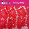 Tessuto rosso chimico ricamato del merletto 2017