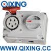IP44 16A 5p Socket con interruptores y mecánica Omterlock (QX7276)