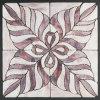 Il reticolo viola mura il mosaico decorativo di vetro macchiato delle mattonelle da vendere