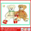 Regalo de la promoción del día de fiesta de la Navidad del oso del peluche de la felpa