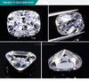 영구히 도매 Oec 방석 모양 Moissanite 1개의 백색 다이아몬드