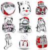 Santa Claus Natal S925 Prata Charm Bead Fit Pulseira jóias