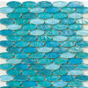 楕円形のガラス舗装のタイルのモザイク
