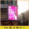 En el exterior de la publicidad electrónica LED HD de gran pantalla de reproducción