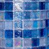 正方形の青いガラスモザイク石