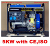 Stockの空気Cooled Open Frame Single Phase Diesel Generator 5kw
