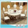 piano d'appoggio di marmo pranzante di pietra rotondo del ristorante del quarzo di 60*60cm