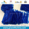Etiqueta de encargo transparente brillante del recorrido del azul 2.5X150m m que cuelga bucles del PVC