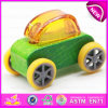 Kids、Mini Wooden Car Toy Children PullおよびPush Cars W04A180eのための新式のClassic Wooden Toy Car