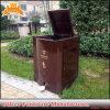 Bandeja de basura de metal exterior de acero Caja de almacenamiento de contenedores de reciclaje de residuos