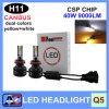 50W 9000lm Q5 conjuguent phare de lumière de regain des couleurs DEL avec Canbus&#160 ;