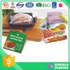 Bolso plástico del congelador de la categoría alimenticia