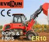 Новые 1.0ton Everun Hydraulic-Pressure фронтальный ковшовый погрузчик с проверки системы