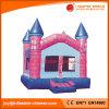 子供(T2109)のための膨脹可能なピンクの煉瓦弾力がある城の跳躍のおもちゃ