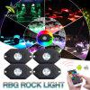 Super Bright Multi 4 gousses de changement de couleur de lumière LED RVB de Rock