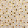 Para la decoración de fondo de la pared de cristal brillante amarillo Mosaico de vidrio