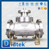 Фланец Didtek кончает верхним шариковый клапан входа усаженный металлом
