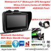 4.3inch IP65はBluetoothのヘッドセット、FMの送信機、ひるみ6.0の皮質A7、800MHz、GPS-4350とのスポーツの処置のMotoのバイク車手持ち型GPSを防水する