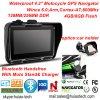 4.3inch IP65는 Bluetooth 헤드폰, FM 전송기, 주춤함 6.0 의 외피 A7, 800MHz, GPS-4350를 가진 스포츠 활동 Moto 자전거 차 소형 GPS를 방수 처리한다