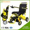 障害者のための電動車椅子のスクーターを折るリチウム電池