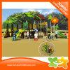 Скольжение напольного парка атракционов темы пущи пластичное для детей