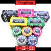 760 PCS Texas Holdem Art-/Clay-Aufkleber-Schürhaken-Chipset für spielendes Spiel (YM-MGBG002)