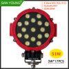 indicatore luminoso del lavoro dell'indicatore luminoso di azionamento del faro LED di 6inch 51W LED LED per l'azionamento fuori strada