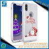 Gevallen van de Telefoon van Kerstmis Bling van de douane de Transparante voor iPhone X
