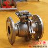 Bridées 2PC Clapet à bille en acier inoxydable avec la norme ISO5211 Plaquette de fixation