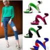 Sandalias de tacón alto 2015 de marca de fábrica de Europa de la celebridad superior del diseño (ZZ-20130027)
